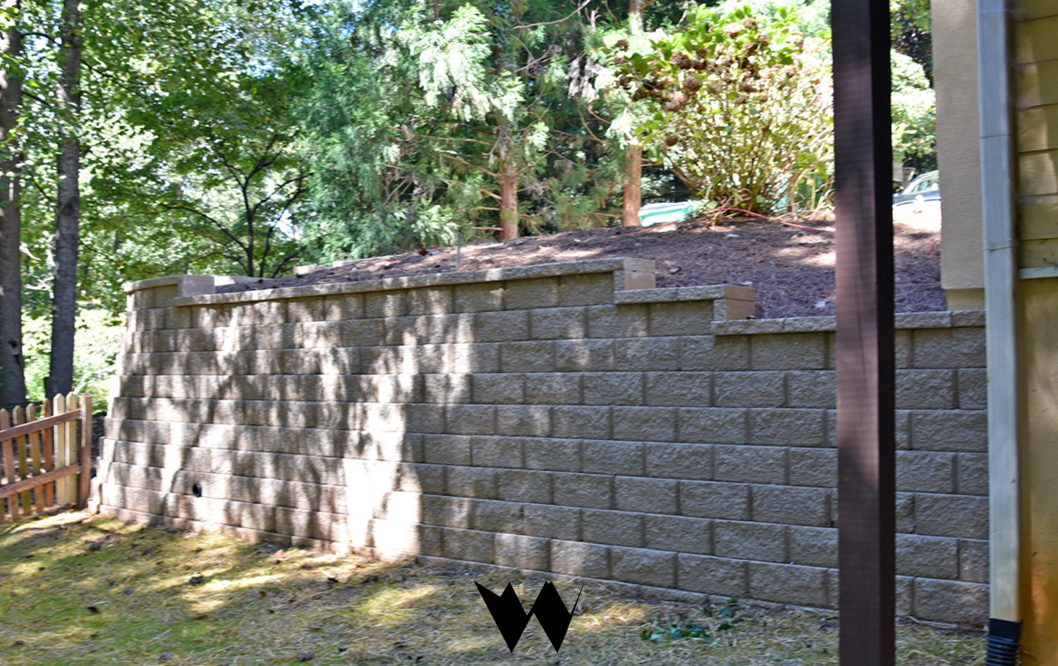 block retaining wall replacement after