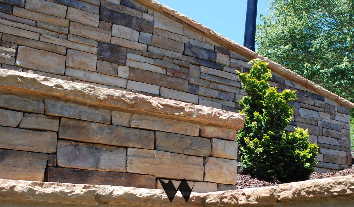 concrete masonry with stacked stone wrap alpharetta ga